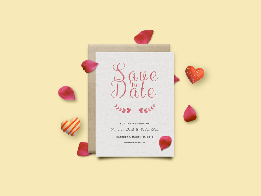 Invitation Card Mockup PSD