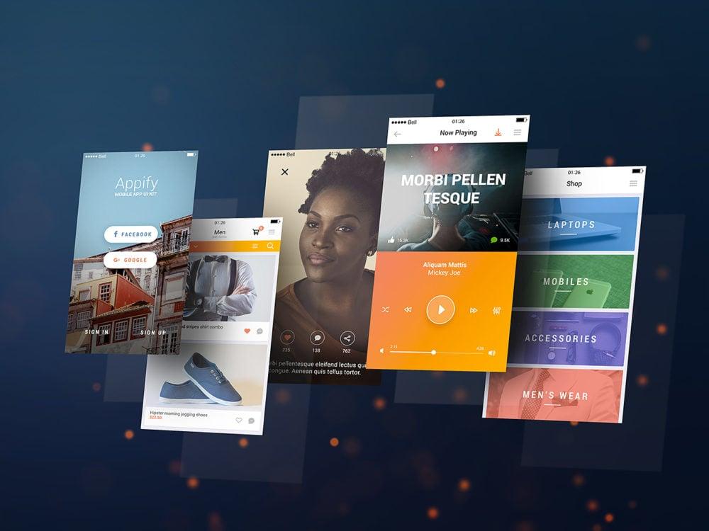 Mobile App Screens Mockup