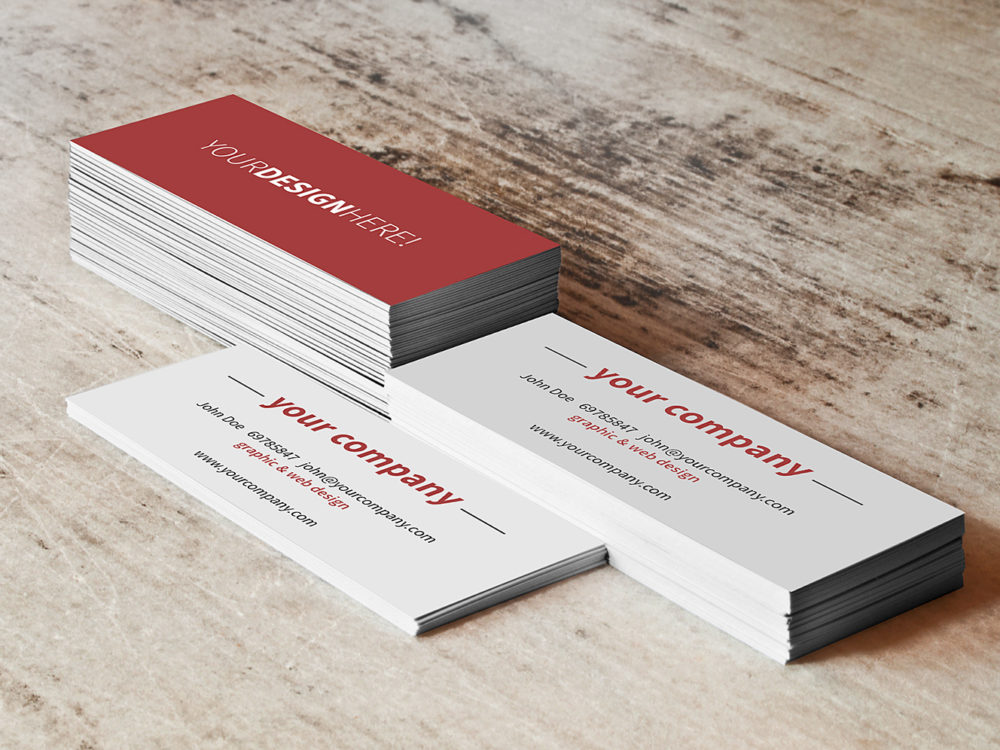 Mockup Business Card Stack Free