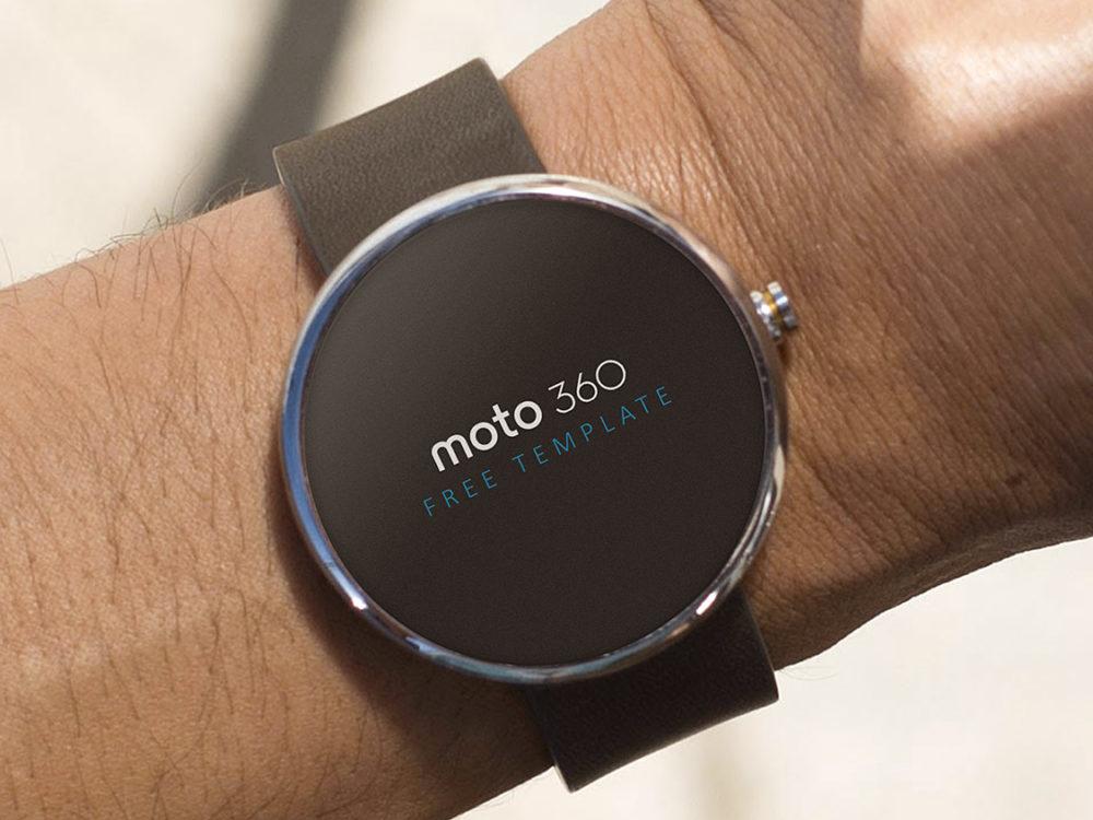 Moto 360 Free Mockup