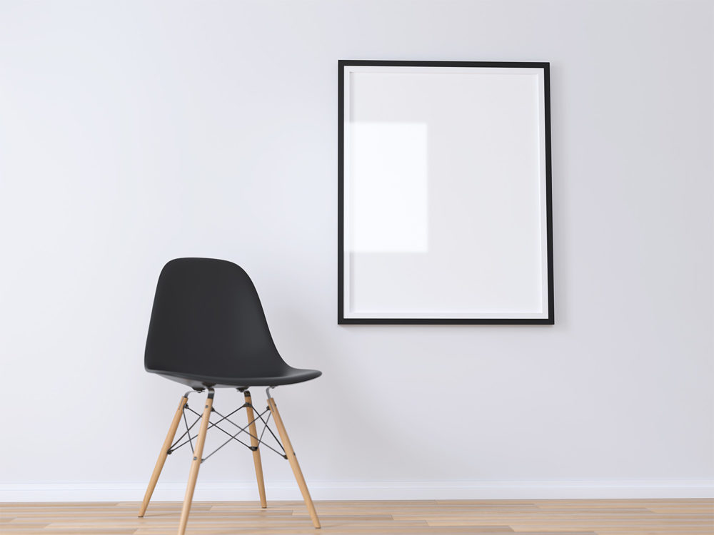 Realistic Poster Frame Mockup Free