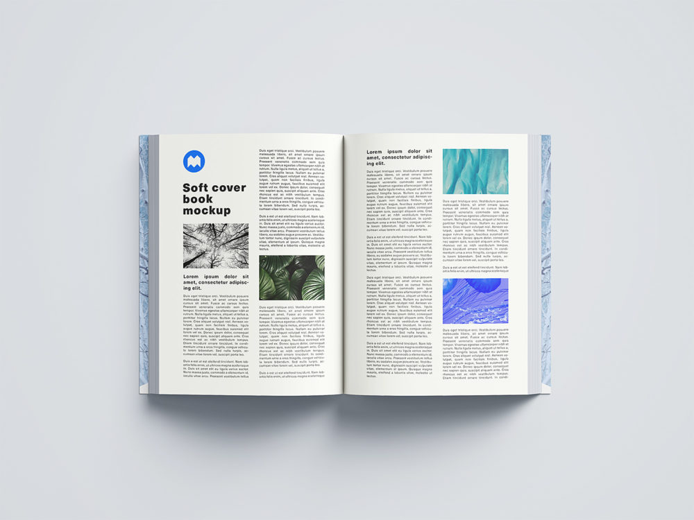 Free Softcover Book Mockup