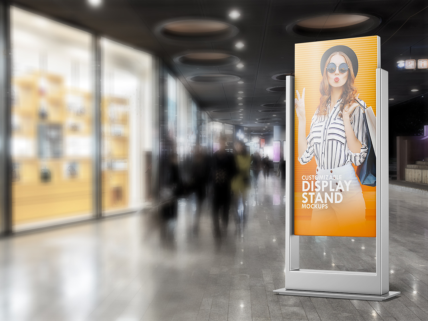 Exhibition Stand Free Mockup : Exhibition stand booth mockup royalty free vector image
