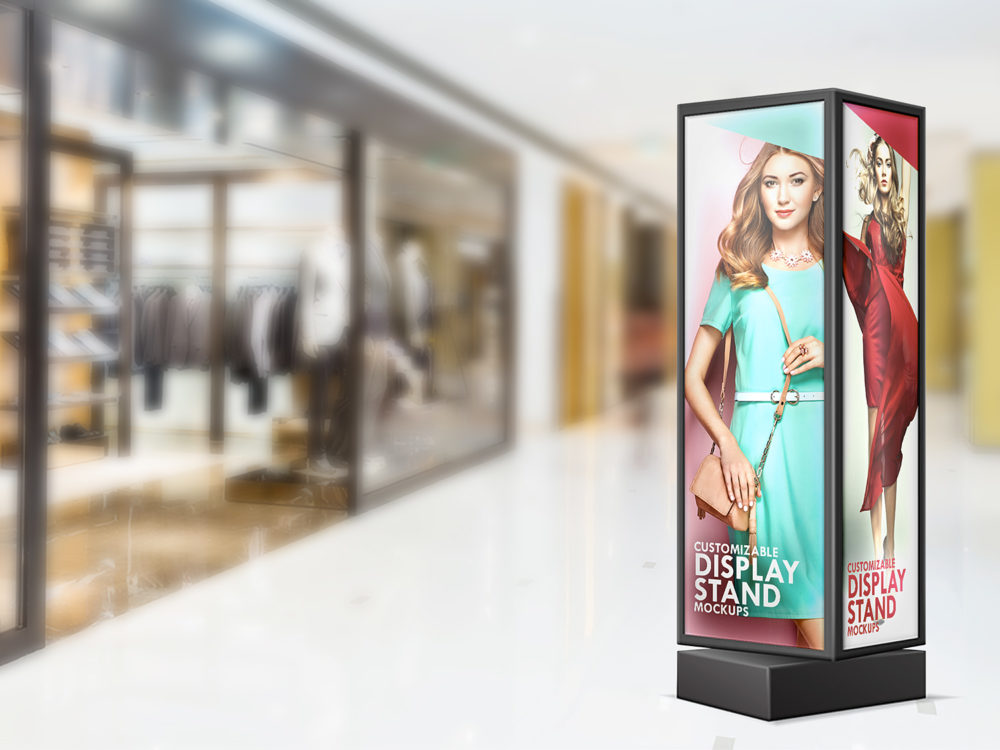 Stand Display Sign Mockup