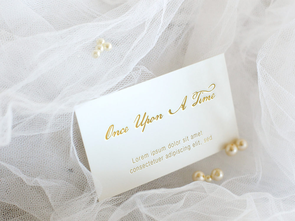 Vintage Wedding Business Card Mockups