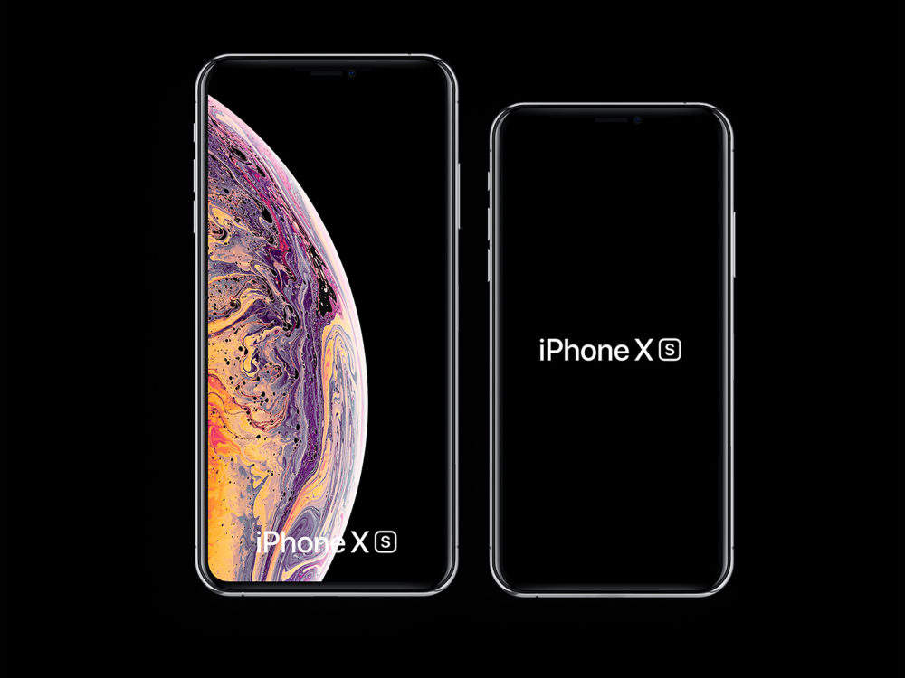 iPhone Xs and iPhone Xs Max mockups free (PSD and Sketch)