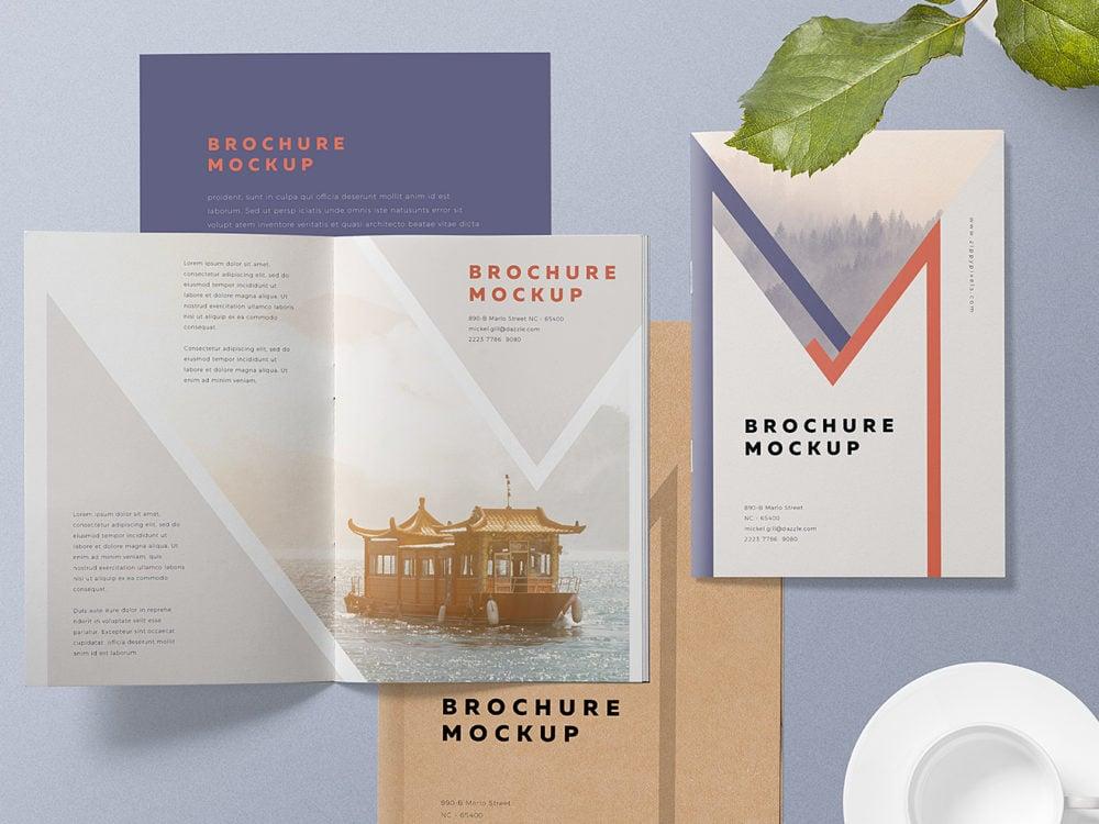 A5 Brochure Mockup