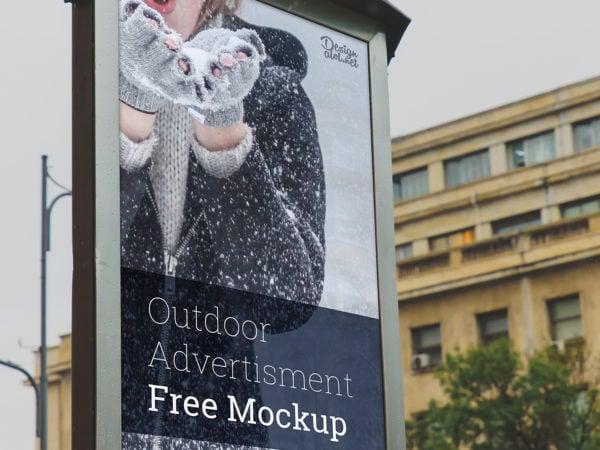City Light Outdoor 9x16 Ad Free Mockup