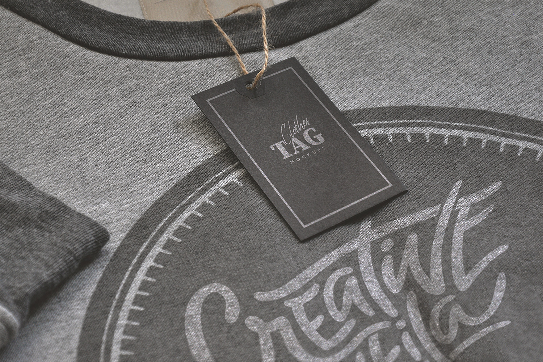 Clothes Label Tags Mockups Free Mockup