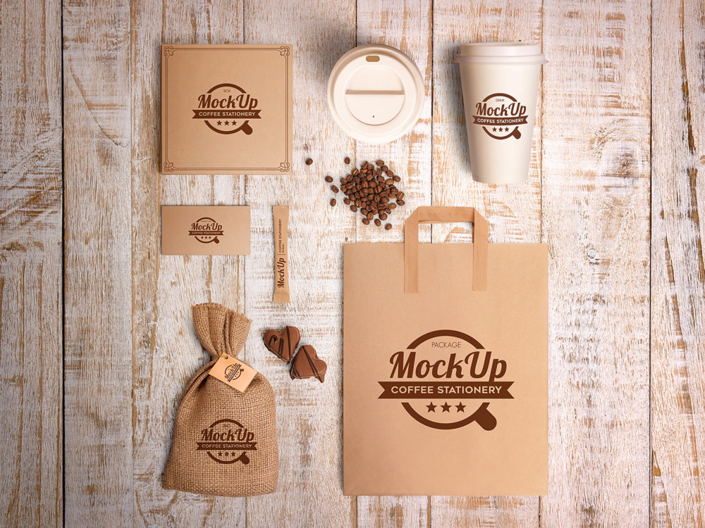Coffee Branding Stationary Mockup