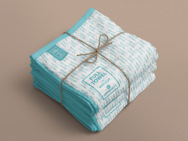 Folded Beach Towel Mockup