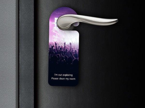 Free Door Tag Mockup