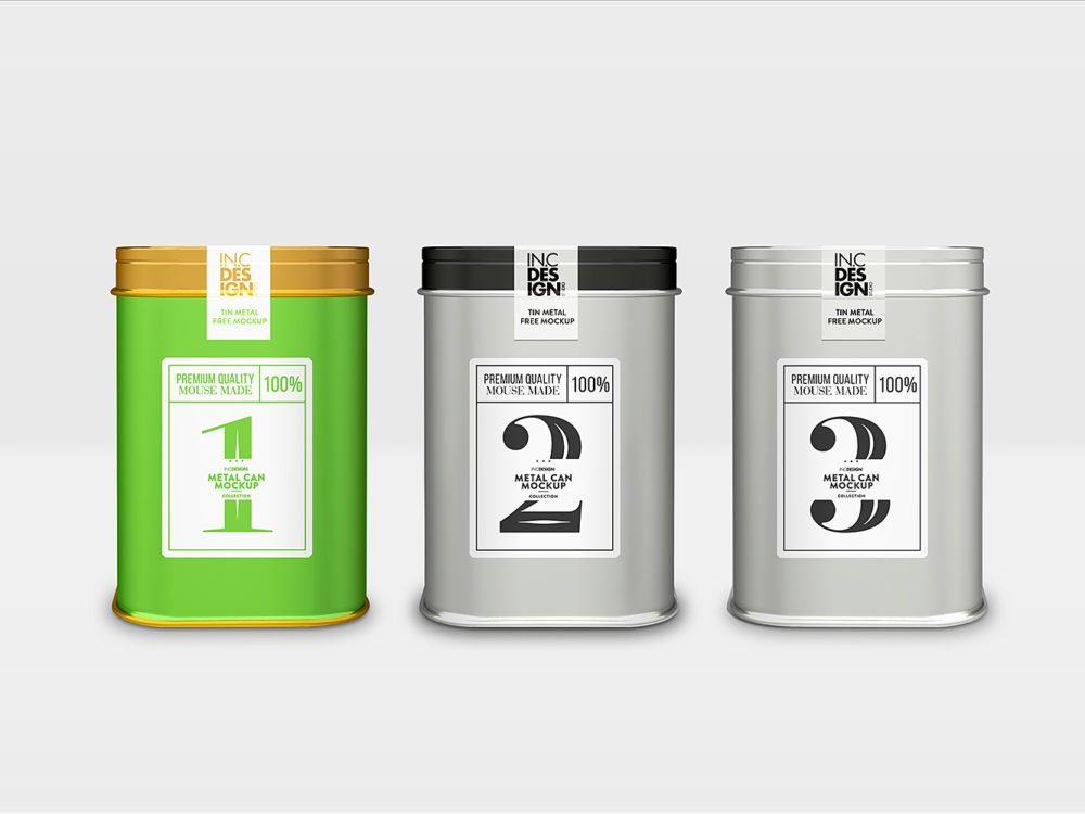 Free Metal Packaging Mockup