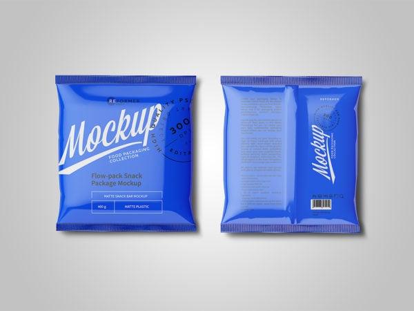 Free Plastic Snack Package Mockup