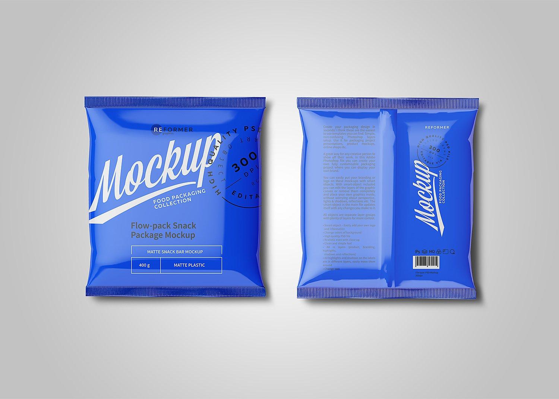 Free Plastic Snack Package Mockup Free Mockup