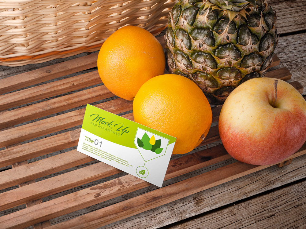 Fruit and Vegetable Business Card Mockup