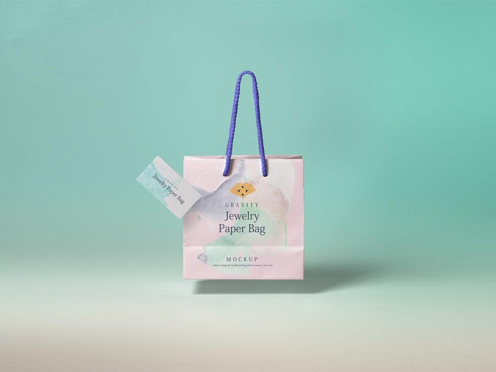 Gravity Shopping Bag Mockup