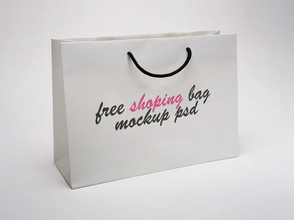 Paper Shopping Bag Mock-Up