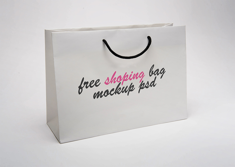 Paper Shopping Bag Mock Up Free Mockup