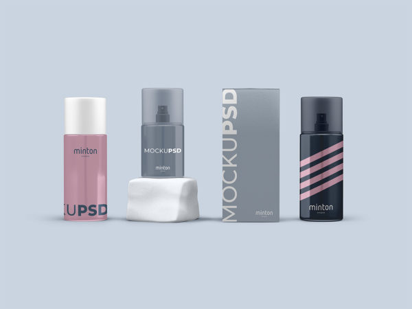 Spray Bottle Packaging Free Mockup