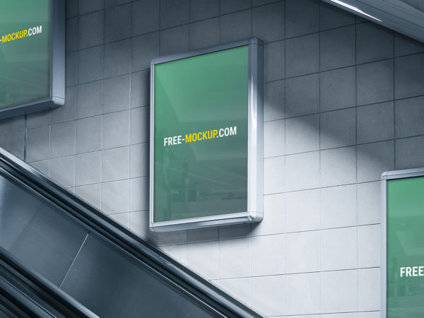 Subway Advertising Billboard Mockup