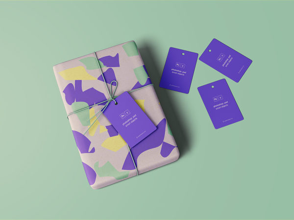 Wrapped Gift Mockup Free
