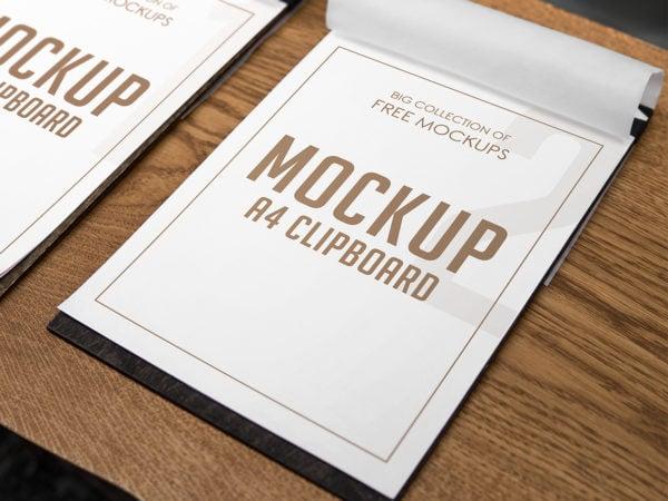 A4 Clipboard Free Mockup