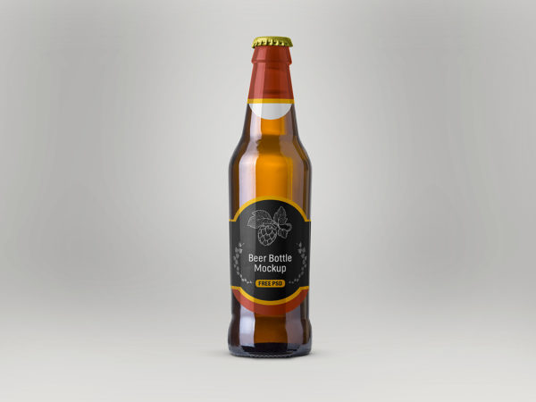 Beer Bottle Mockup Free