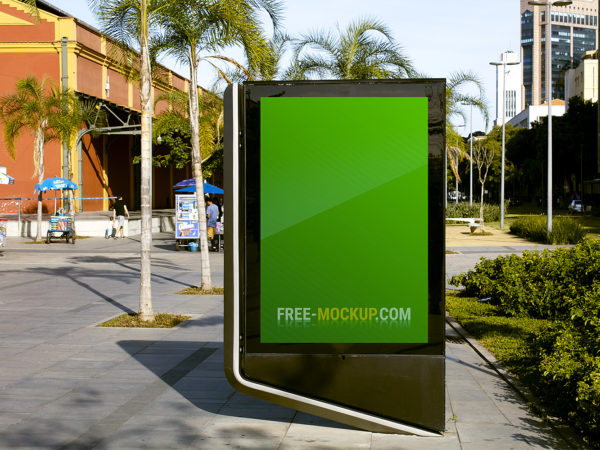 City Light Outdoor Advertisement Mockup