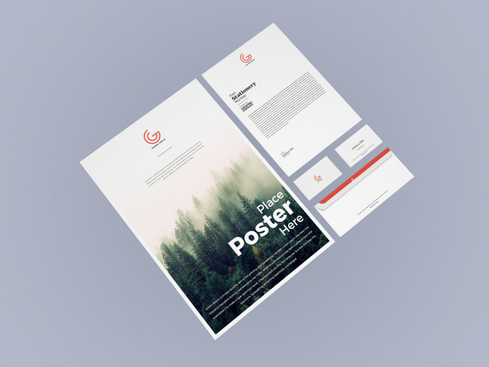 Free Corporate Stationery Mockup