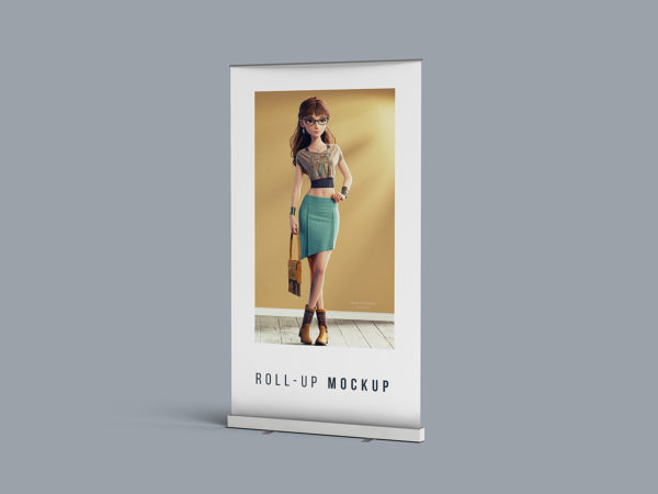 Free Roll-up Banner Stand Mockup