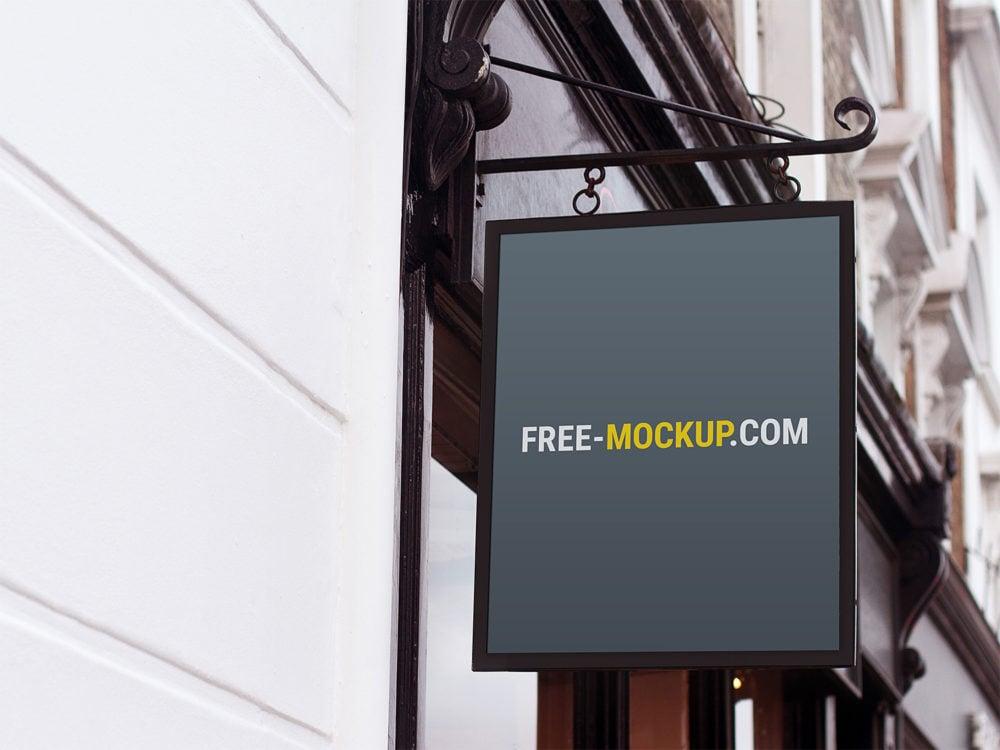 Free Wall Sign Mockup