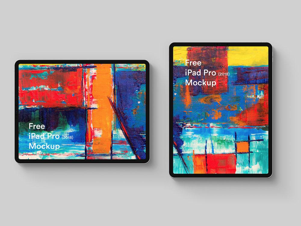 Free iPad Pro 2018 Mockup Sketch and PSD