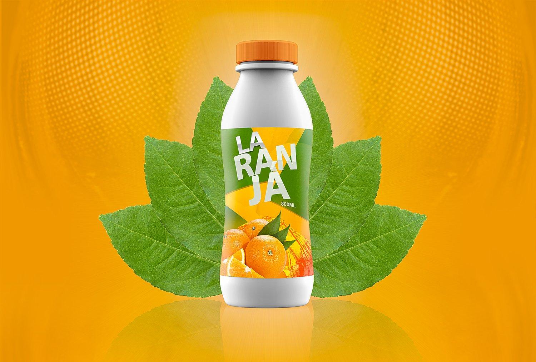 Download Juice or Yogurte Plastic Bottle Mockup   Free Mockup Free Mockups