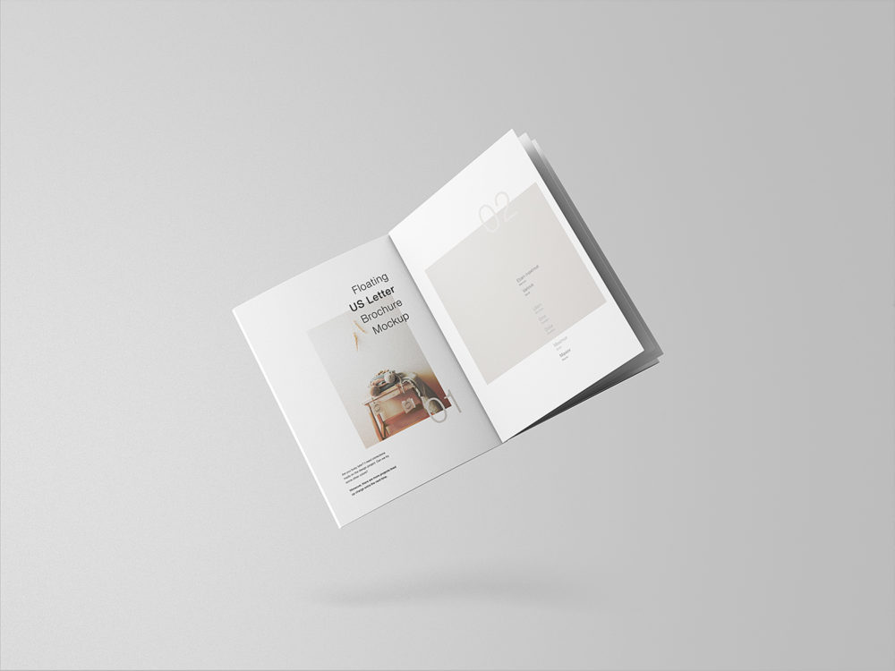Minimal Floating Brochure Mockup