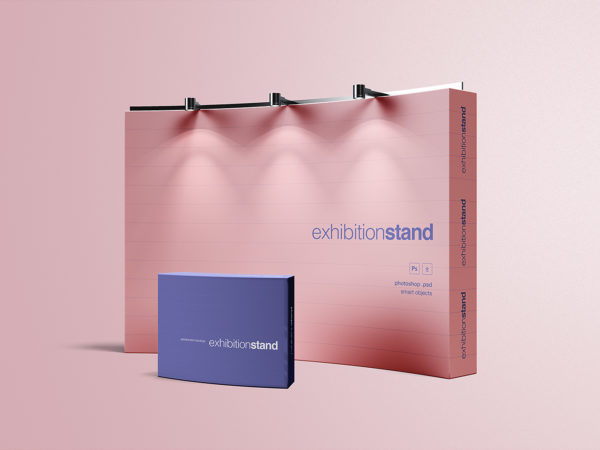 Free Exhibition Stand Mockup