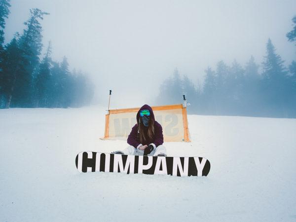 Snowboard Free Mockup