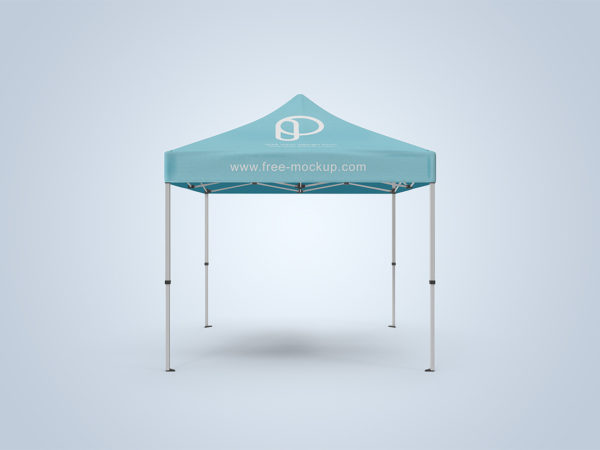 Square Canopy Tent Free Mockup