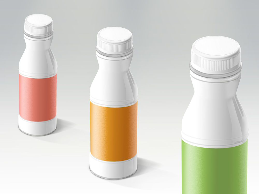 Yogurt Plastic Bottle Free Mockup