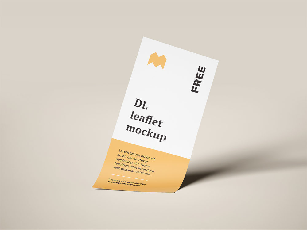 Flying DL Leaflets Free Mockup