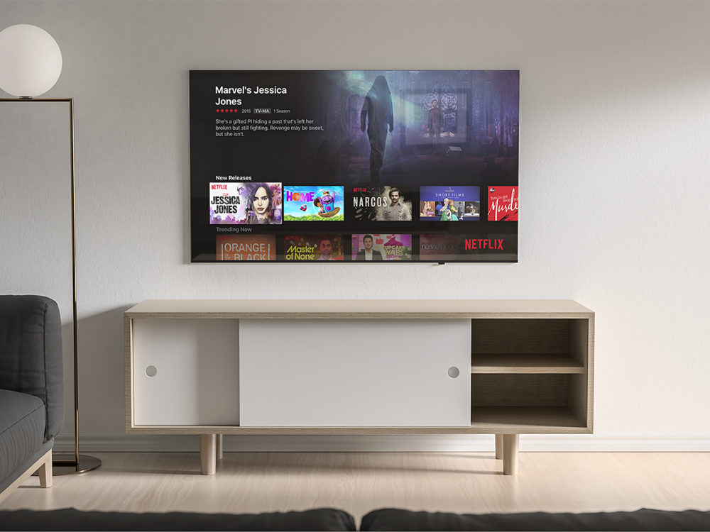 Modern TV Mockup Free