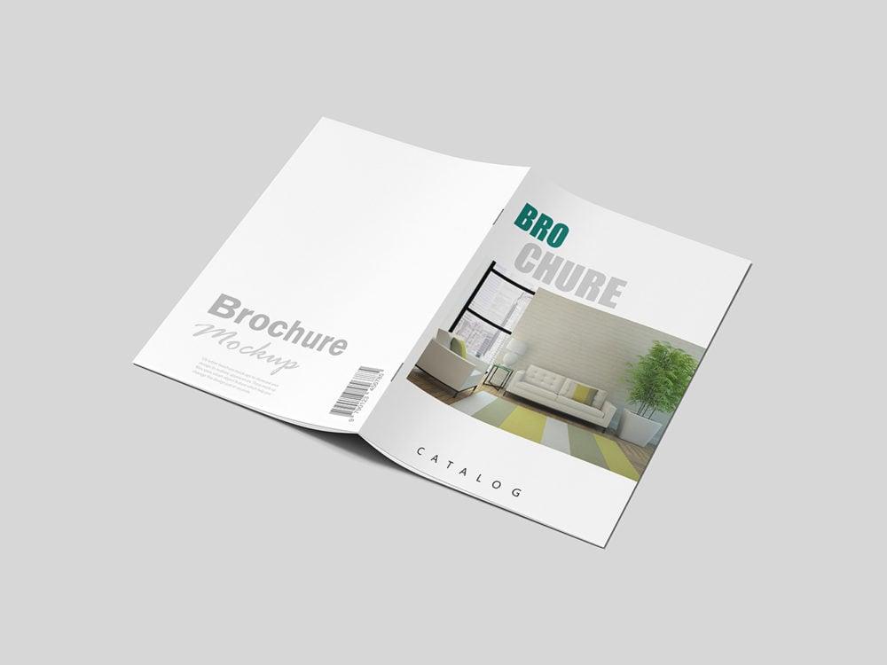 Realistic Brochure Mockup Free