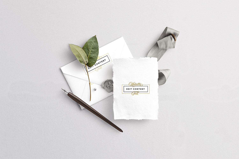 Wedding Card With Envelope Mockup Set Free Mockup