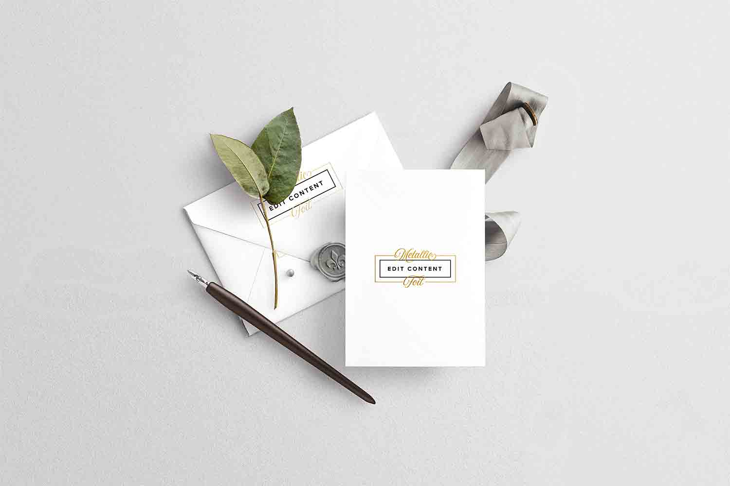 Wedding-Card-with-Envelope-Mockup