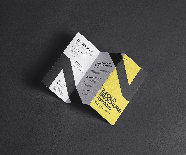 Z Fold Brochure Free Mockup