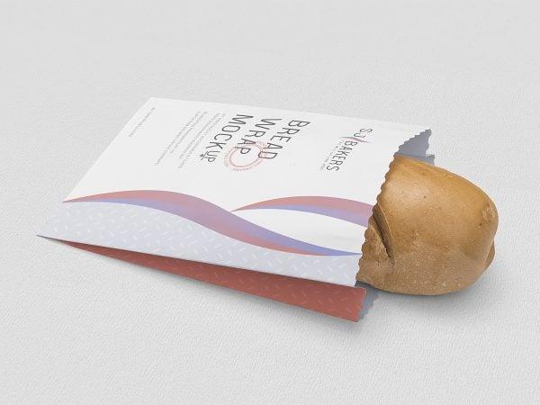 Free Bread Paper Bag Packaging Mockup