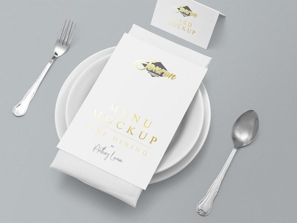 Free Customizable Menu Mockup Scene