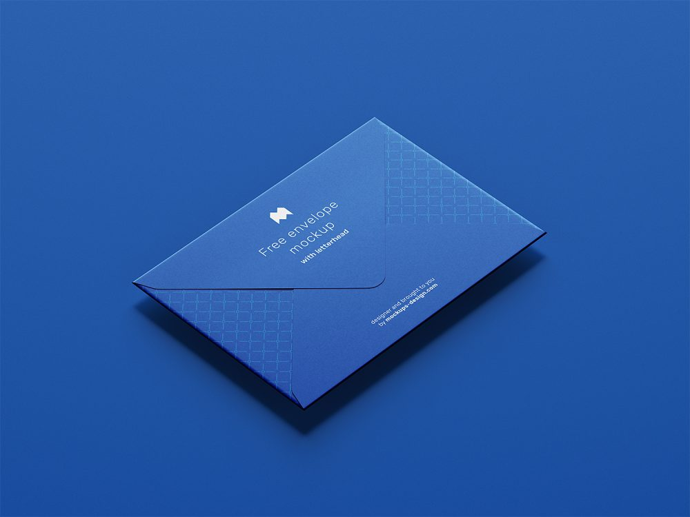 Free Envelope with Letterhead Mockup