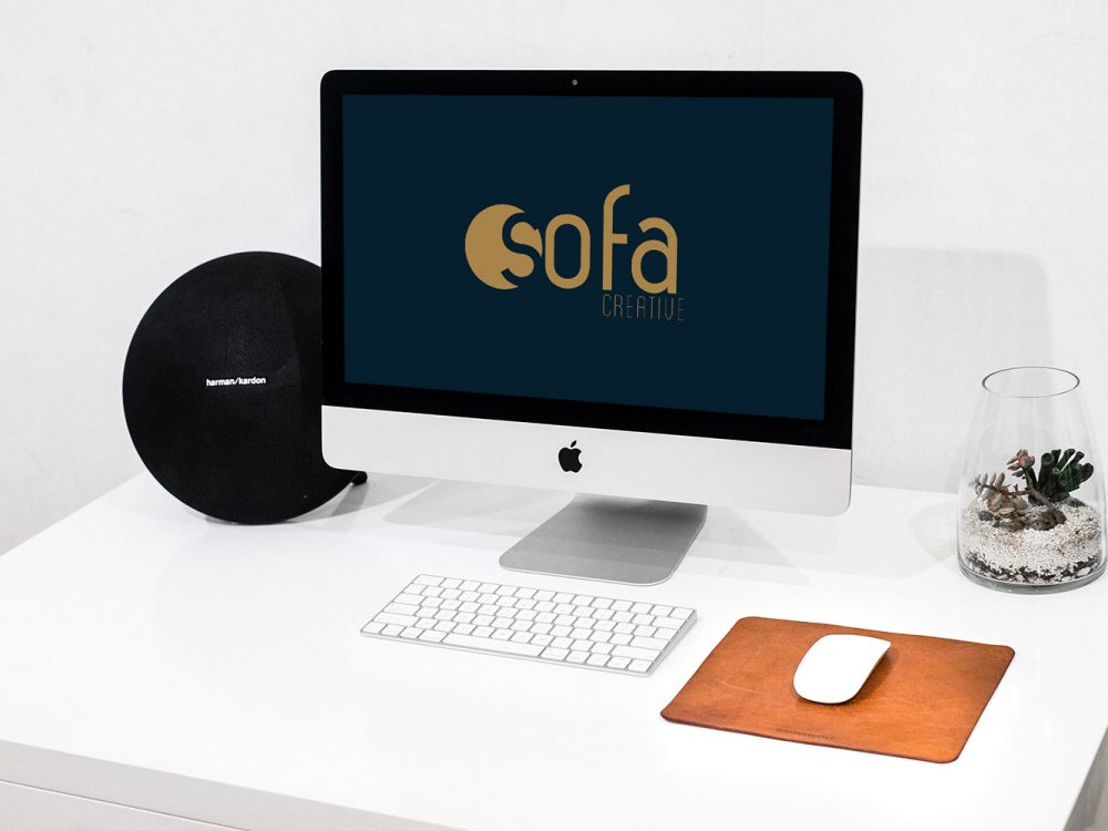 Free iMac Workspace Mockup