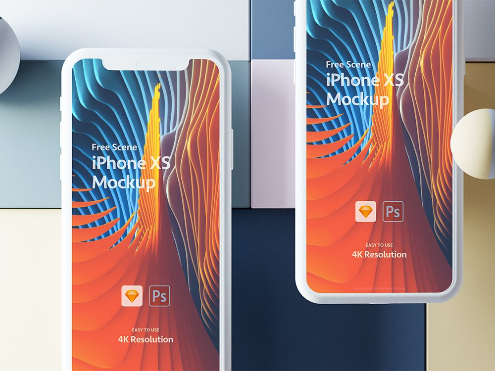 Free iPhone Xs PSD and Sketch Mockup